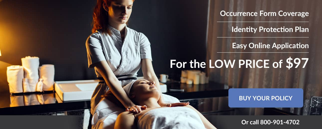 Occurence form coverage. Identity protection plan. Easy application. 3 online CE Hours included. Professional Massage Therapist insurance for low price of $97.
